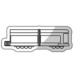Locomotive train transport cut line vector