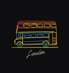 london bus postcard vector image
