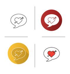 love message icon vector image