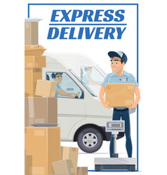 Mail post logistic express delivery courier vector