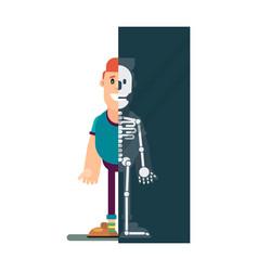 man makes an x-ray vector image