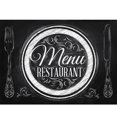 Menu Restaurant chalk vector