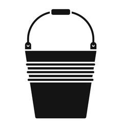 metal bucket icon simple style vector image
