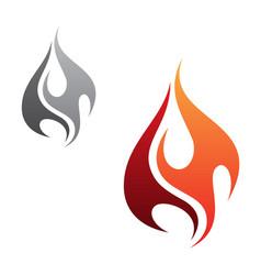 minimalist flame vector image