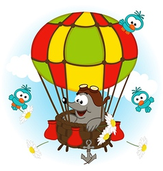 Mole in balloon vector