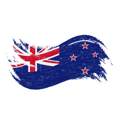 National flag of new zealand designed using brush vector