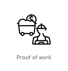 Outline prowork icon isolated black simple vector