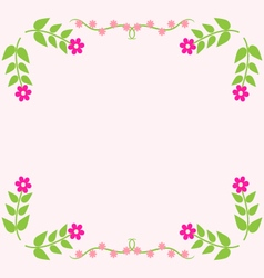 Painted floral greeting card Flower pattern vector