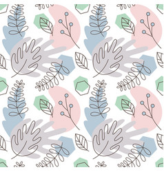 pattern from tropical leaves and plants vector image