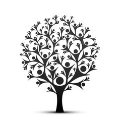 People tree sign color black vector