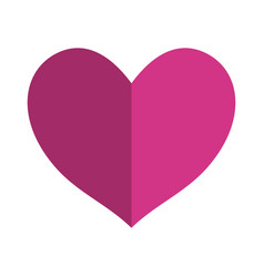 Pink symbol heart decorative vector