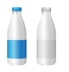 plastic bottle of milk vector image