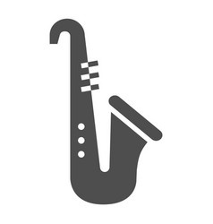 saxophone glyph icon musical and instrument vector image