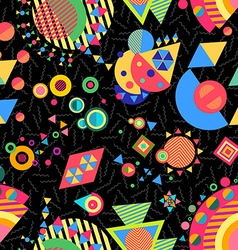 Seamless pattern geometry background colorful vector