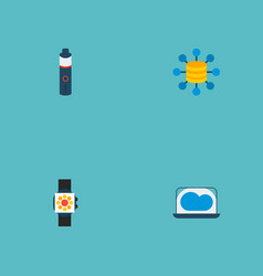 set of modern icons flat style symbols with cloud vector image