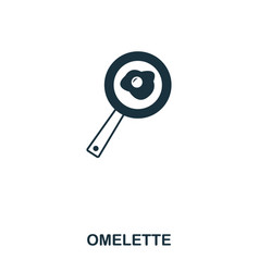 simple outline omelette icon pixel perfect linear vector image