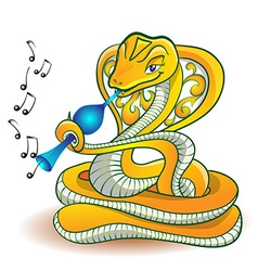 Snake and flute vector