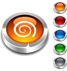 Swirl 3d button vector image