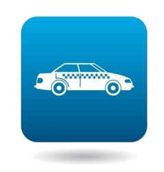 Taxi car icon in flat style vector