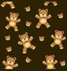 teddy bear seamless background vector image