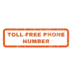 Toll-Free Phone Number Rubber Stamp vector image
