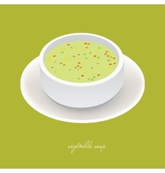 vegetable soup vector image
