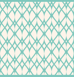Vintage seamless pattern thin wavy lines mesh vector