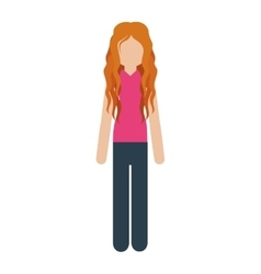 Woman with causal wear and red hair vector