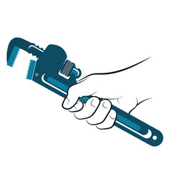 wrench in hand vector image