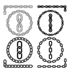 Chain icons parts circles of chains vector image