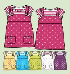 girls tops vector image vector image
