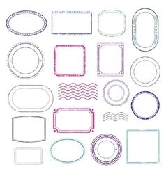 Stamps frames set vector image