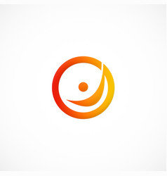 People round happy logo vector
