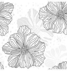 Stylized seamless flower pattern vector image