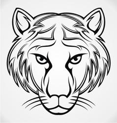 Tiger Head Tribal vector image vector image