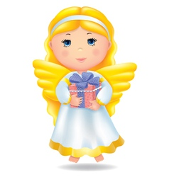 Angel with gift vector image
