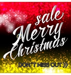 Merry Chrismas Sale Lettering Bright Banner vector image vector image