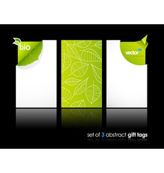 nature gift cards vector image vector image