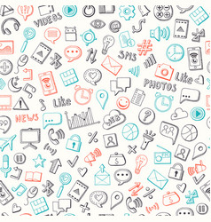 pattern background with social media hand vector image