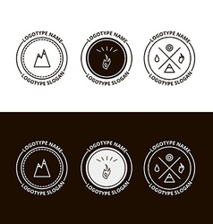 Set of outdoor adventure expedition tourism logo vector image