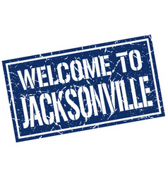 welcome to jacksonville stamp vector image vector image