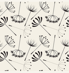 abstract dandelions seamless patterns vector image