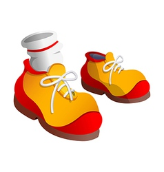 icon shoes and socks vector image vector image
