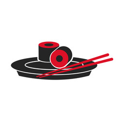 Japanese sushi food dish stick custom vector