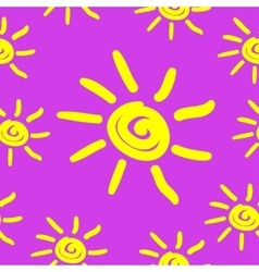 Seamless pattern with hand draw sun vector image vector image
