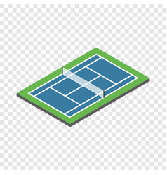 tennis court isometric icon vector image vector image