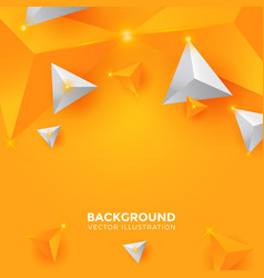 abstract shiny yellow and white triangle vector image