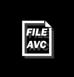 avc file icon flat vector image
