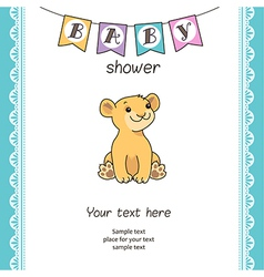 baby shower lion vector image