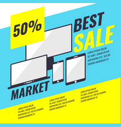 banner sale of phones and computers vector image